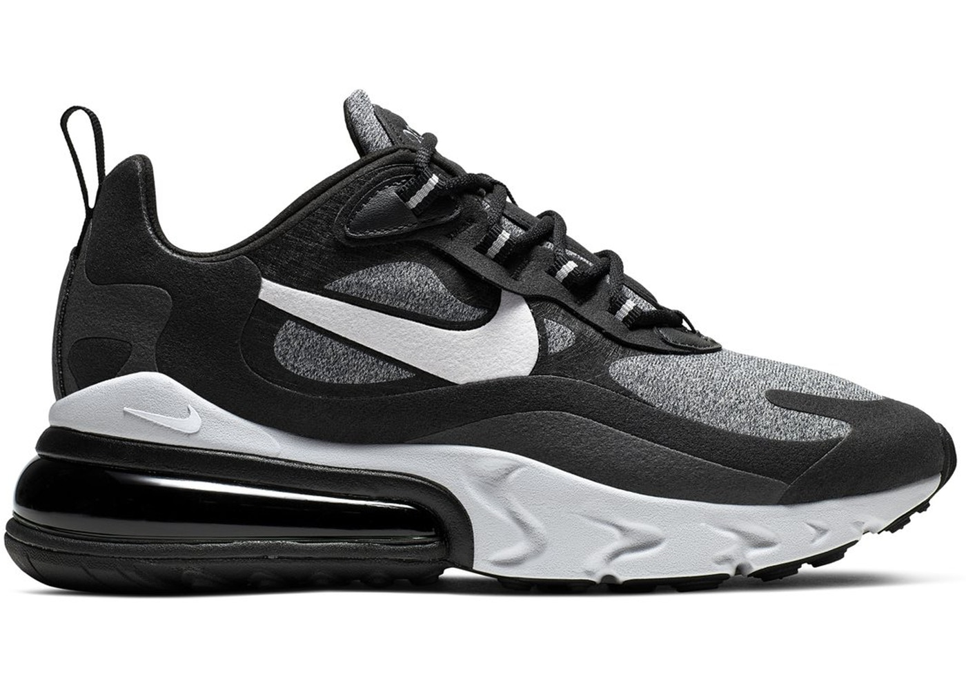 air max 270 react black and grey