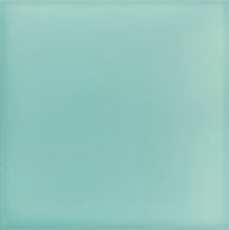 Art Deco Plain field tile 152x152mm Aqua