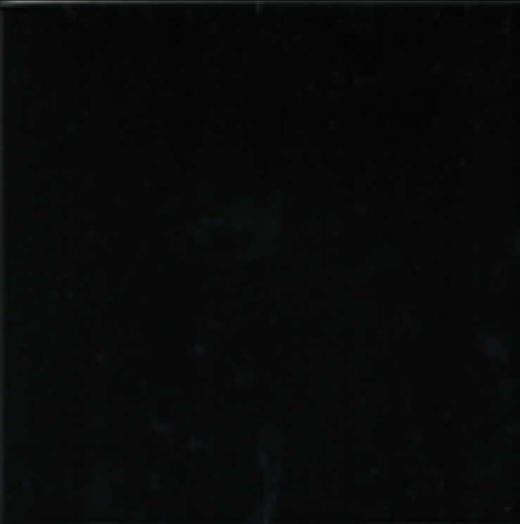 Art Deco Plain field tile 152x152mm Black