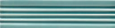 Art Deco tile Reeded Slip 38x152mm Aqua