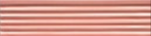 Art Deco tile Reeded Slip 38x152mm Dog Rose