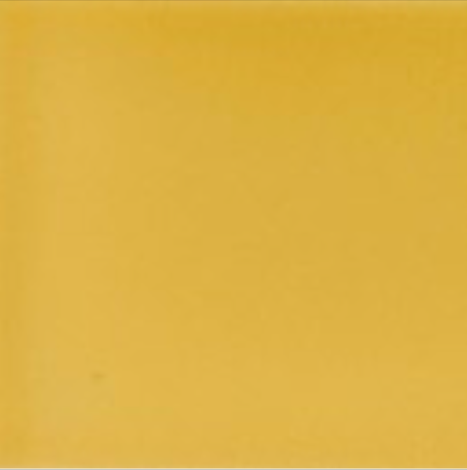 Art Nouveau Plain Field Tile 152x152mm Yellow