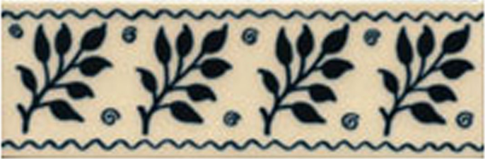 Victorian Tile Classic Printed Fenton 50x152mm Deep Blue