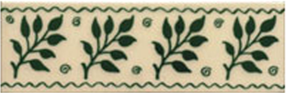Victorian Tile Classic Printed Fenton 50x152mm Laurel