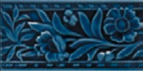 Victorian wall Claverley tiles 75x152mm Deep Blue