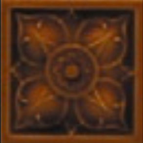 Victorian wall Hope tiles 75x75mm chestnut