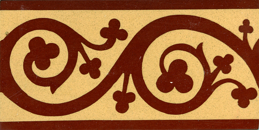 Encaustic Tile Border 152mm x 75mm B3013