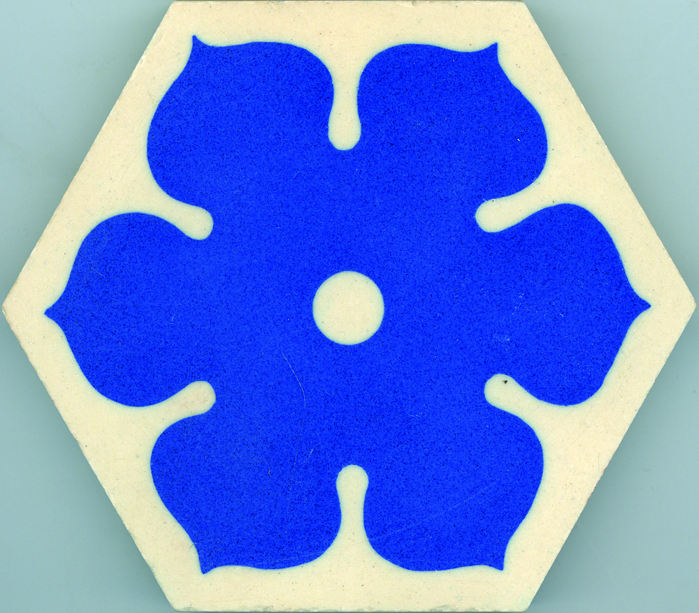 Encaustic Border Tile H1000 90mm hex