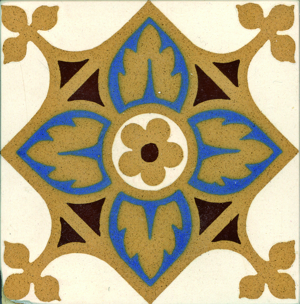 Encaustic Tile 110mmx110mm 4023