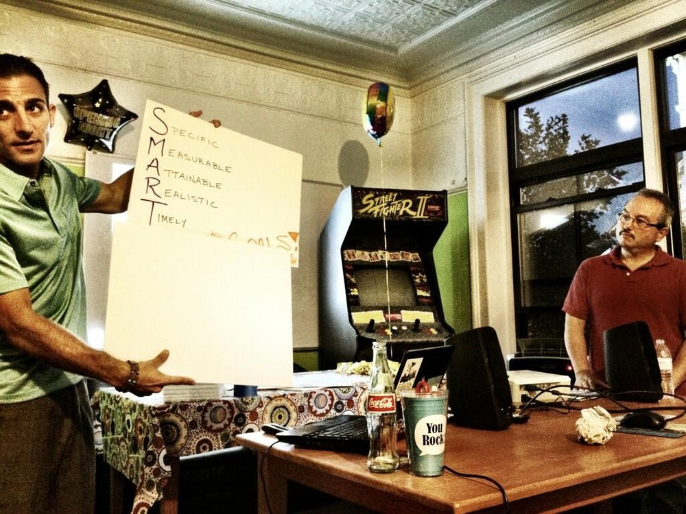 Photo captured at the Alpha Loft in Downtown Portsmouth during a #UROCKtalk in 2013.  I was co-presenting with a former teammate in the advertising field, who I call the Guru of Twitter and good friend, Mr. Don Perkins.
