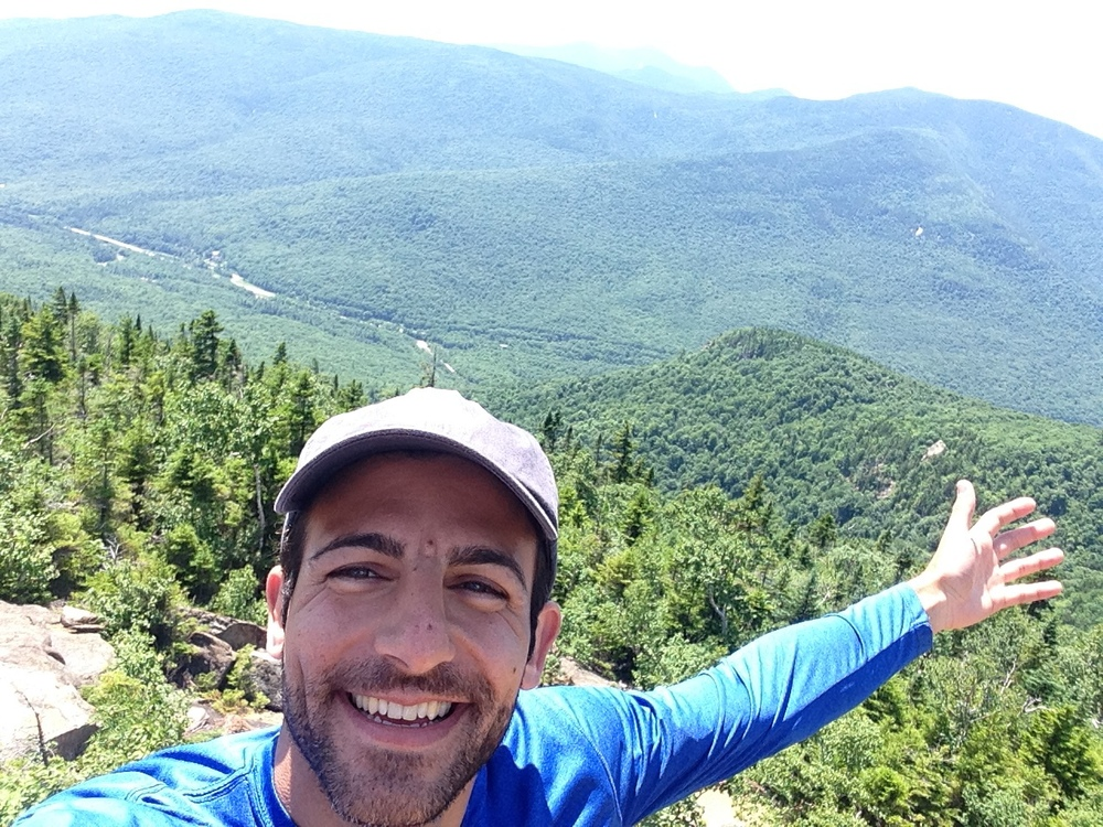 UROCK's Chief Igniter, Nick Mirabello takes a summit-selfie during his 1st New Hampshire hike!