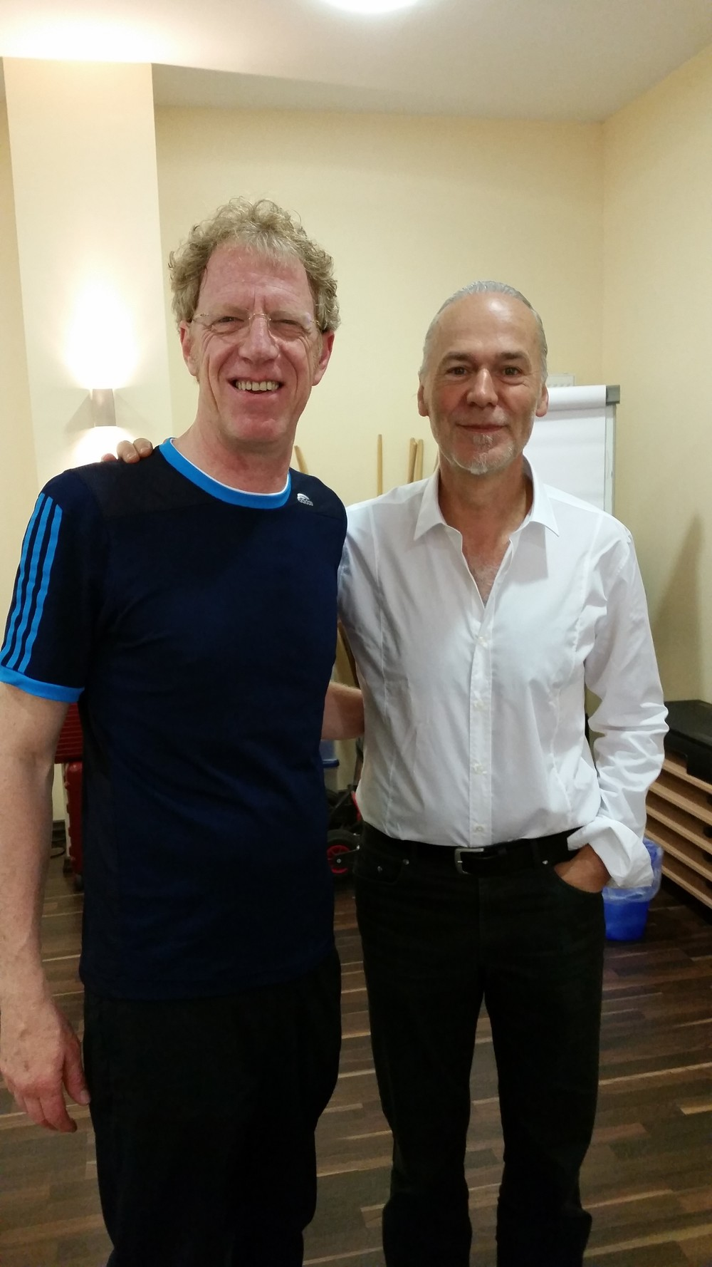 Dr. Robert Schleip, rechts, bei der Fortbildung im Fortbildungszentrum Hagen.