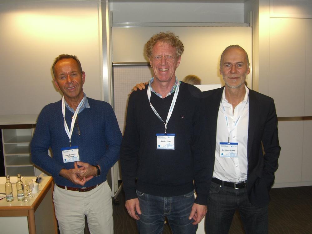 Beim Experten-Talk:Prof. Dr. Andry Vleeming (links)und Dr. Robert Schleip (rechts)