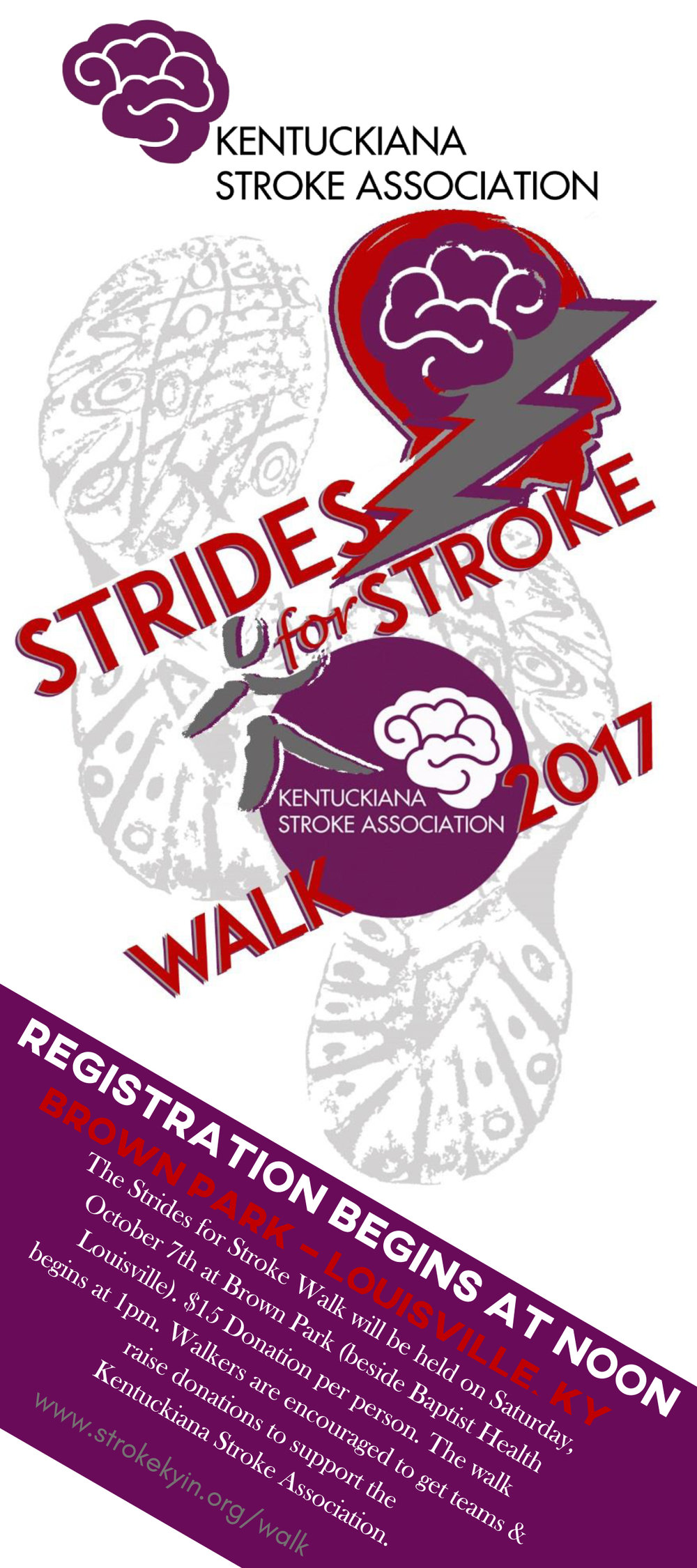 Click to Download Flyer PDF - Ask others in your community to sponsor your as a walker. See if your team can raise the most money !