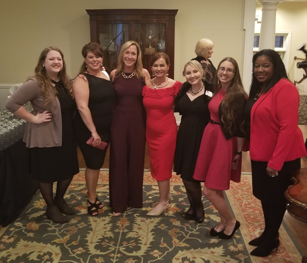 Aly Brand, Katherine Wolz, Kathie Quaife, Robin Byrd, Alisha Duvall, Julie Wysong, Kenya Whitfield