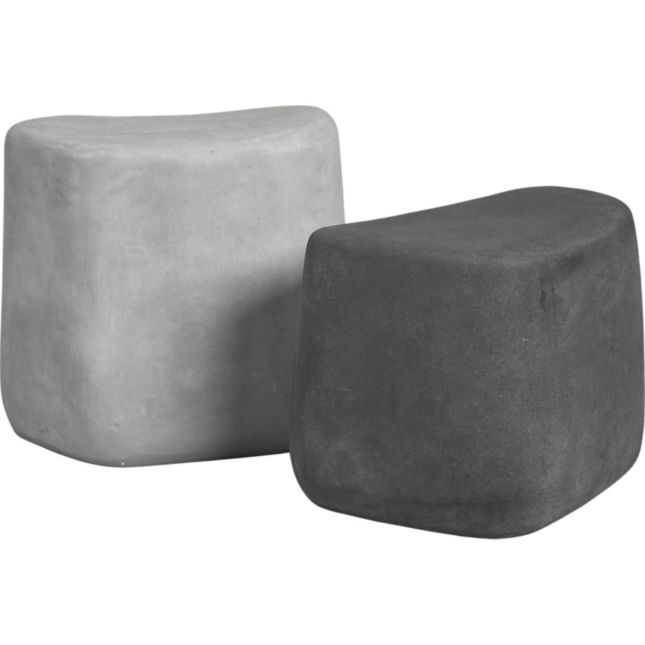 Large stone stools from Crate and Barrel  sc 1 st  Landstylist & Large stone stools from Crate and Barrel \u2014 Landstylist islam-shia.org
