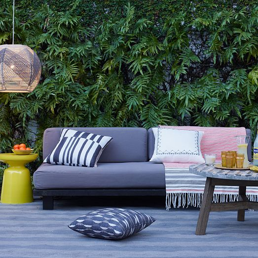 Superb Tillary Outdoor Modular Sofa From West Elm