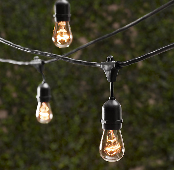 String Lights add a festive dimension to any fall garden, or any garden in general. Restoration Hardware $110