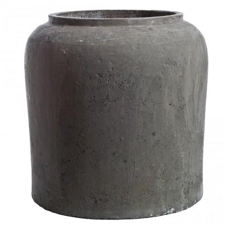 Matte Grey Stone Textured Planter Homenature$585