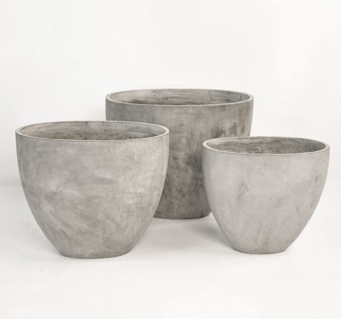 Brooklyn Concrete Pots Teak Warehouse/ Prices range $149-$249 View Product Website