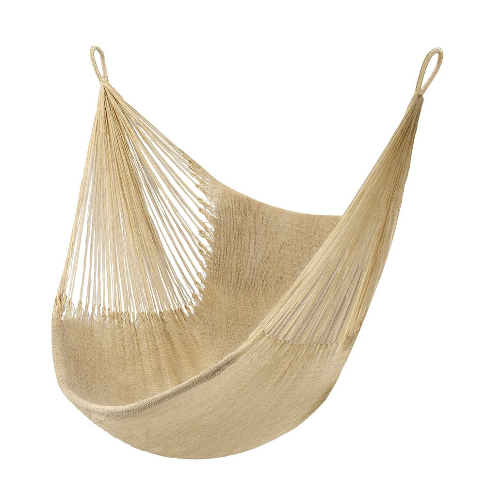 And why not throw in a hammock if you can? A sculptural look when empty and great way to catch a nap when used properly. View Product Website
