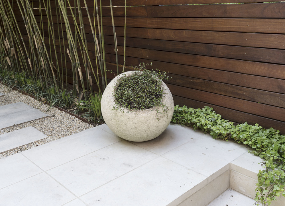 Cool Sculptural Planters: an unusual find, in stone, from The Bayberry in Amagansett, LI.