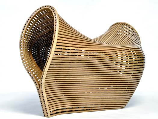 Matthias Pleissing's Pinch Bench is divine. Clearly inspired by ability as a boat builder, this is art -functioning- as- bench.