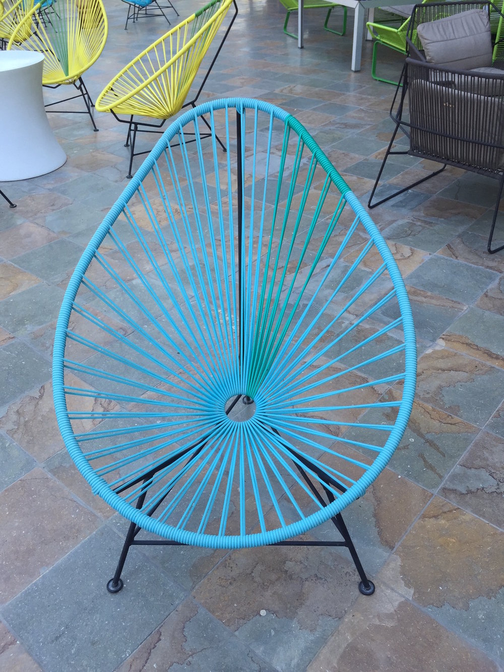 The Egg Chair chair in Costa Rica--comes in multiple colors...and remarkably comfortable. View Product Website