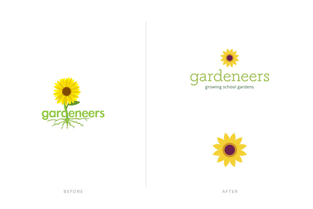 before and after, logo design