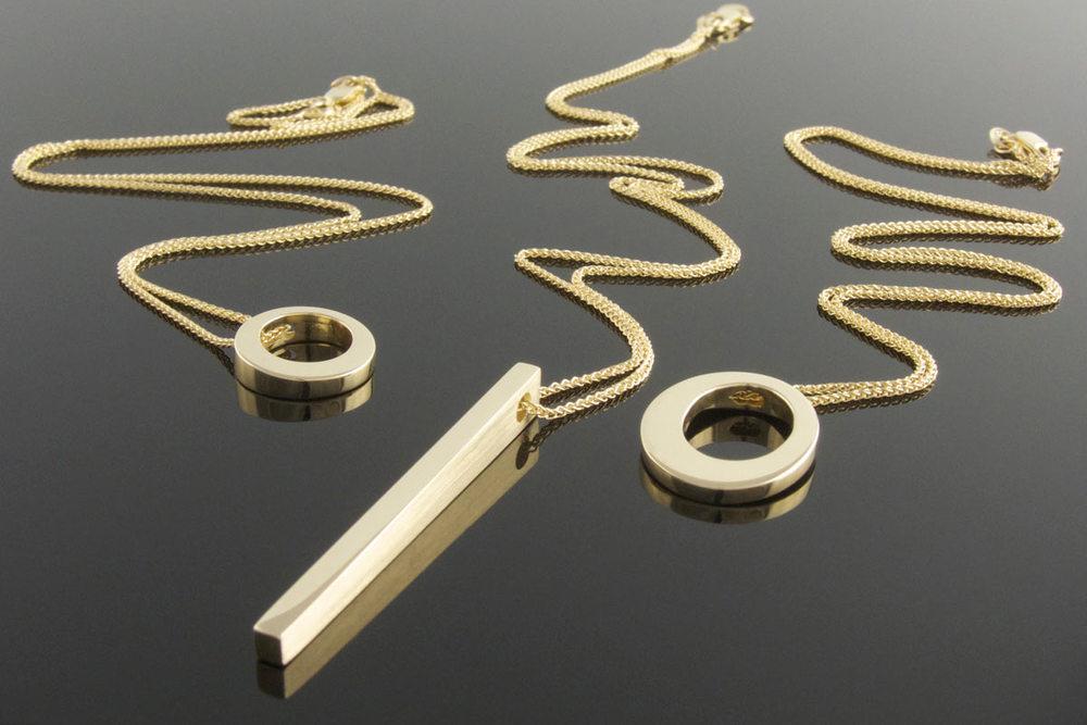 9ct yellow gold pendants