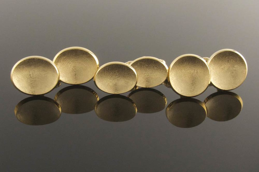 Gold plated silver cufflinks