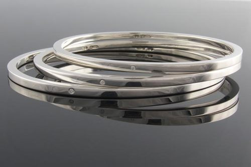 sterling oxidized kadas bracelet a bangle silver jewellery kada plain bangles