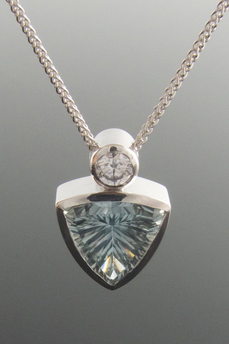 Natural topaz pendant