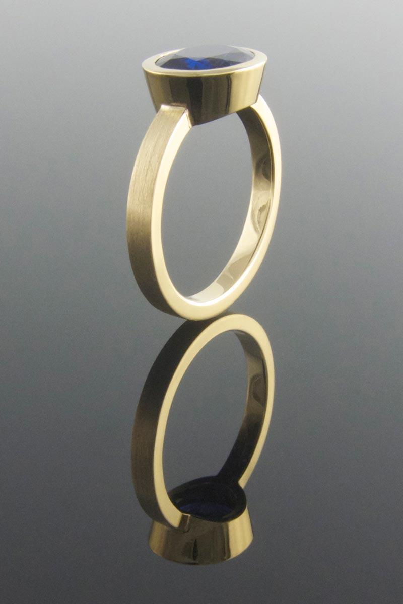 Handmade sapphire engagement ring