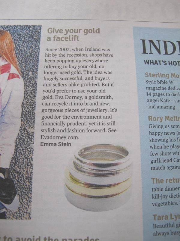 Irish Times Article about Eva Dorney
