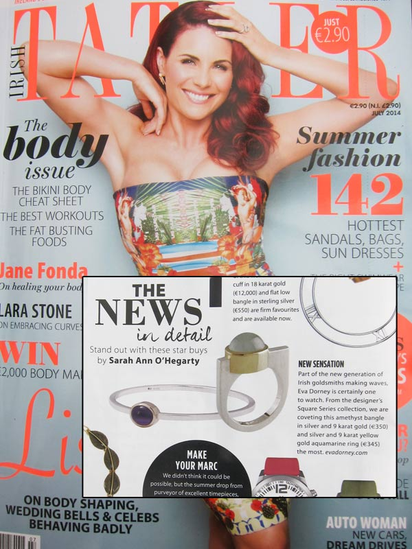 Irish Tatler July 2014 featuring Eva Dorney Goldsmith