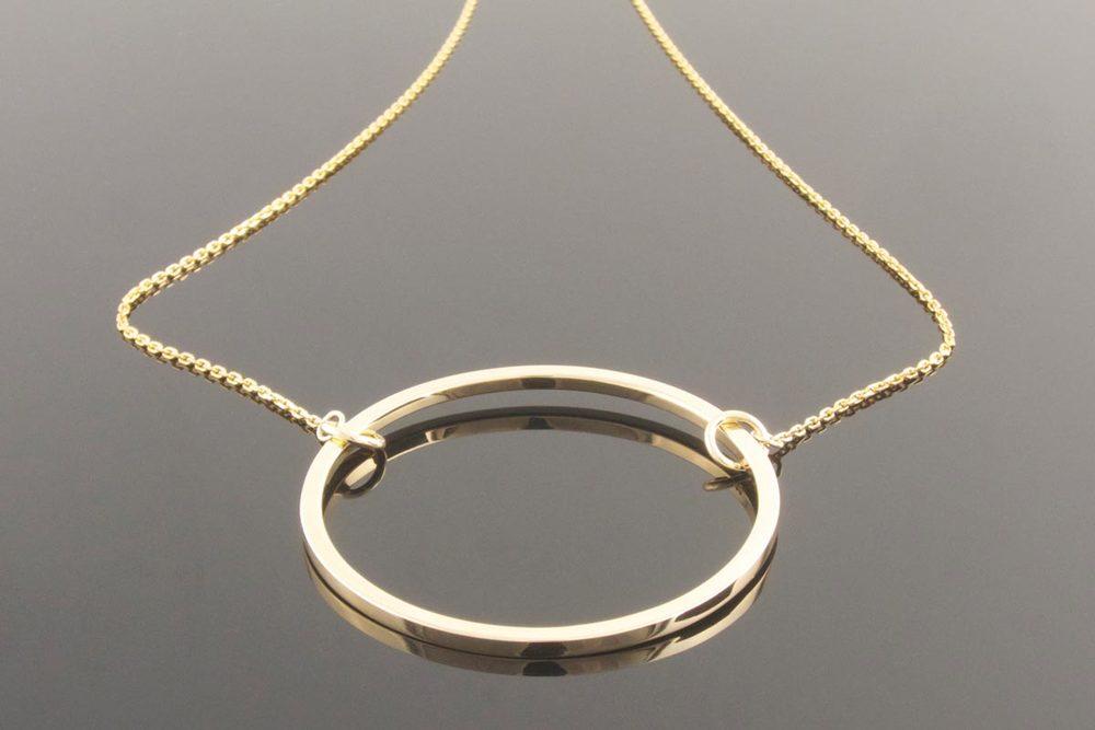 Eva dorney goldsmith contemporary handmade jewellery design recycled gold circle pendant aloadofball Gallery