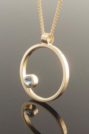 Eva dorney goldsmith contemporary handmade jewellery design aquamarine circle pendant audiocablefo