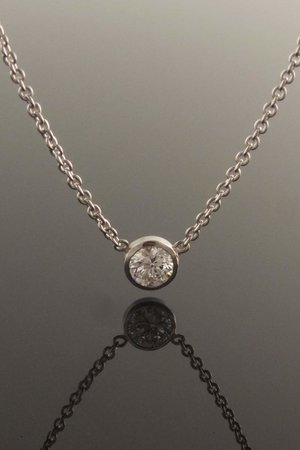 18ct white gold diamond solitaire pendant eva dorney goldsmith 18ct white gold diamond solitaire pendant aloadofball Images