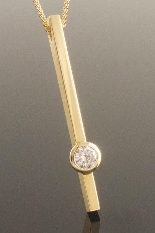 Eva dorney goldsmith contemporary handmade jewellery design diamond set bar pendant aloadofball Choice Image