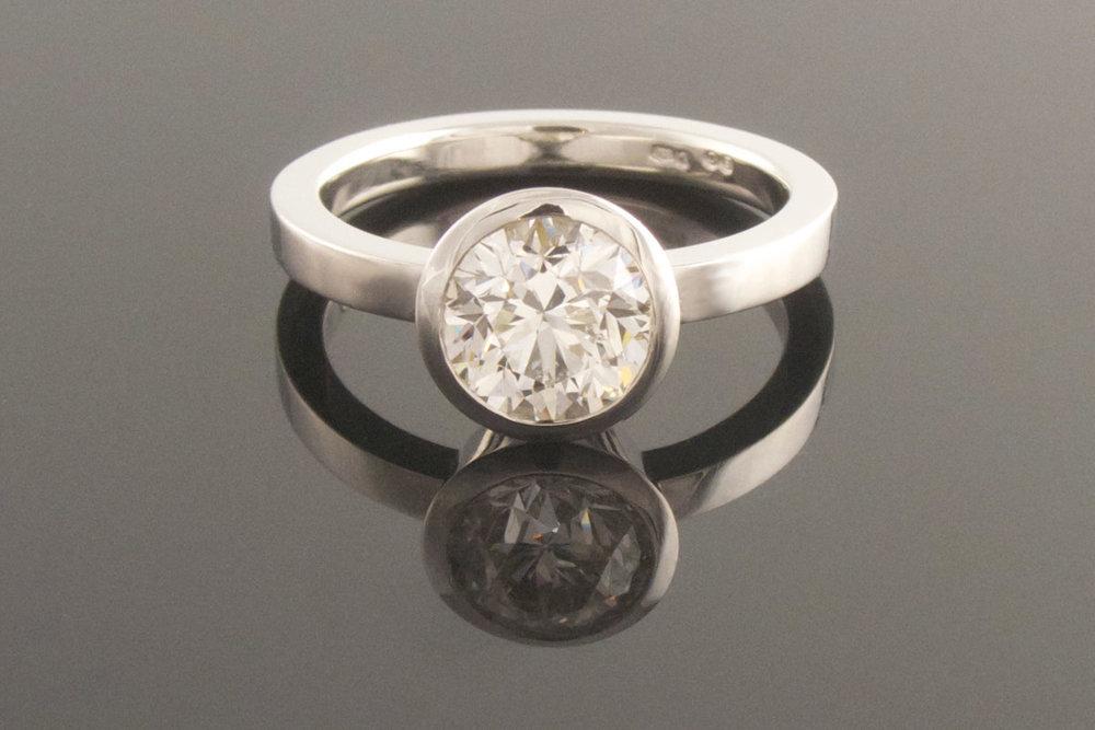 Platinum solitiare engagement ring