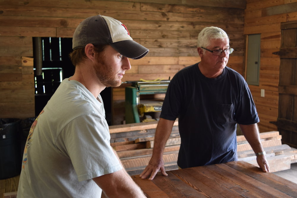 Carolina Farmstead Founder Wayne Noble with son and Lead Craftsman Matt