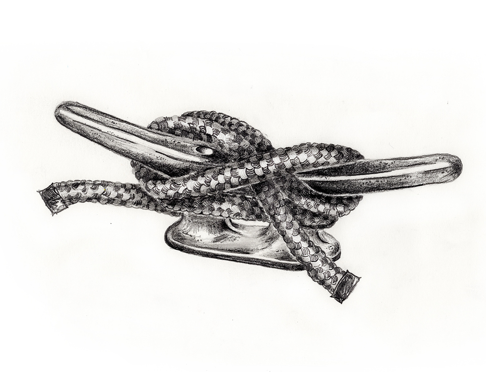 Cleat and Rope by LK Weiss