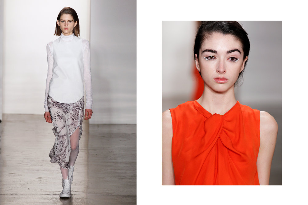 Looks I styled for the Fall 2012 Ready-To-Wear show, including the cobra print. Images via Vogue.com.