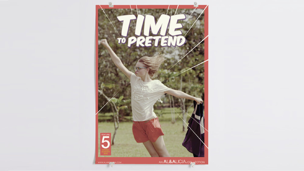 Issue #5—'Time To Pretend' promotional material inspired by comic book posters.