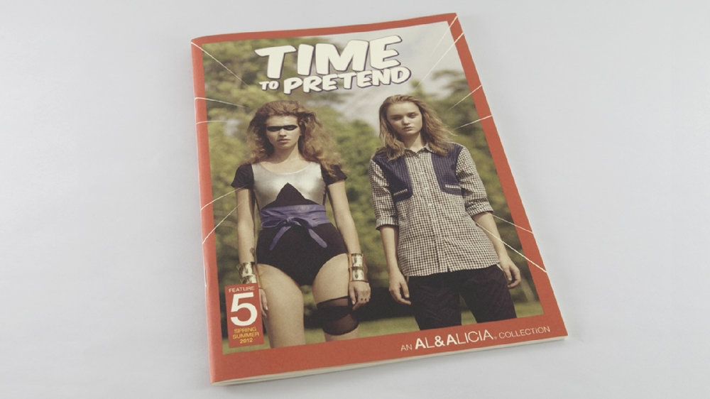 Issue #5—'Time To Pretend' print lookbook inspired by the graphics in classic comic books.