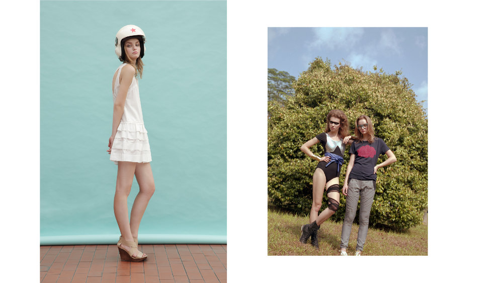 Production & styling for lookbook (left) and campaign (right).