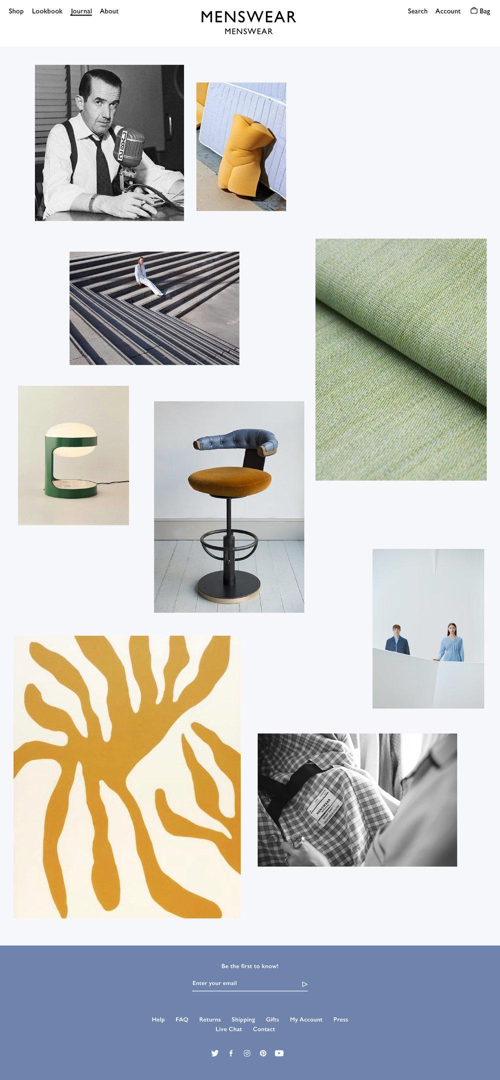 Menswear Menswear Journal Page