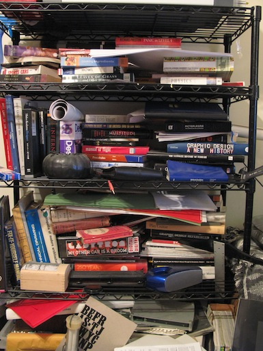 Cluttered with books