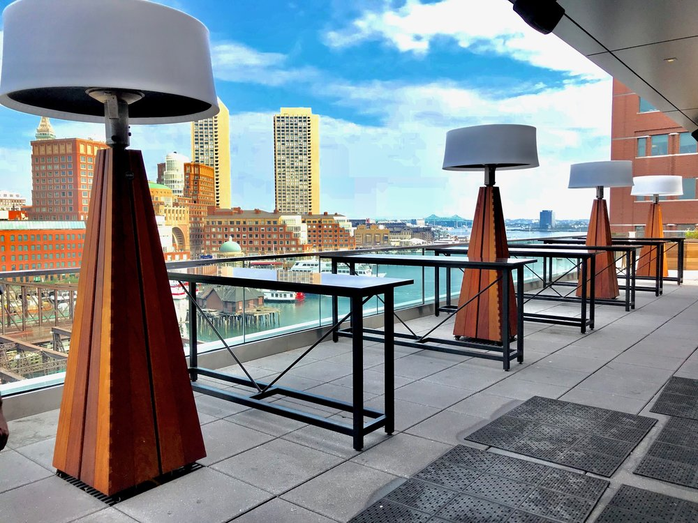 Rooftop Outlook @ The Envoy Hotel in Boston